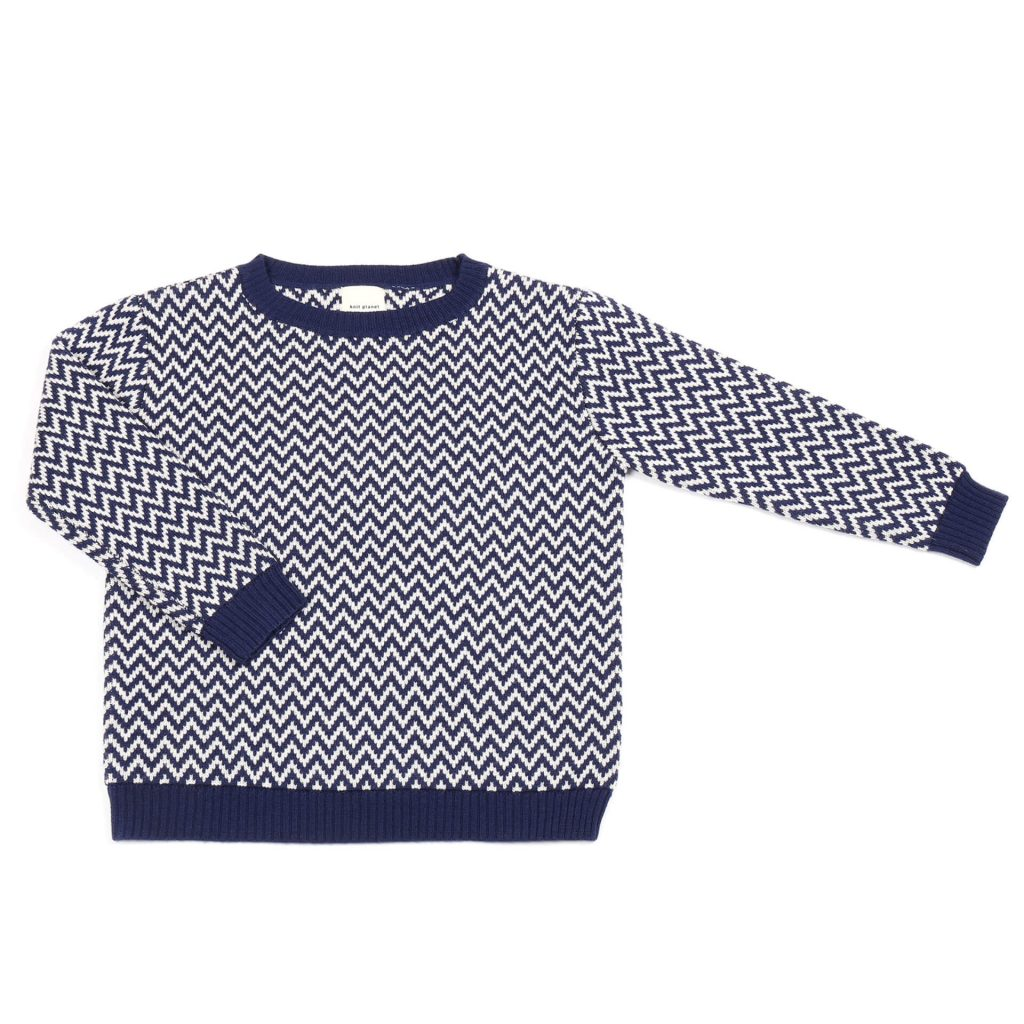 Knit Planet ZickZack Pullover navy