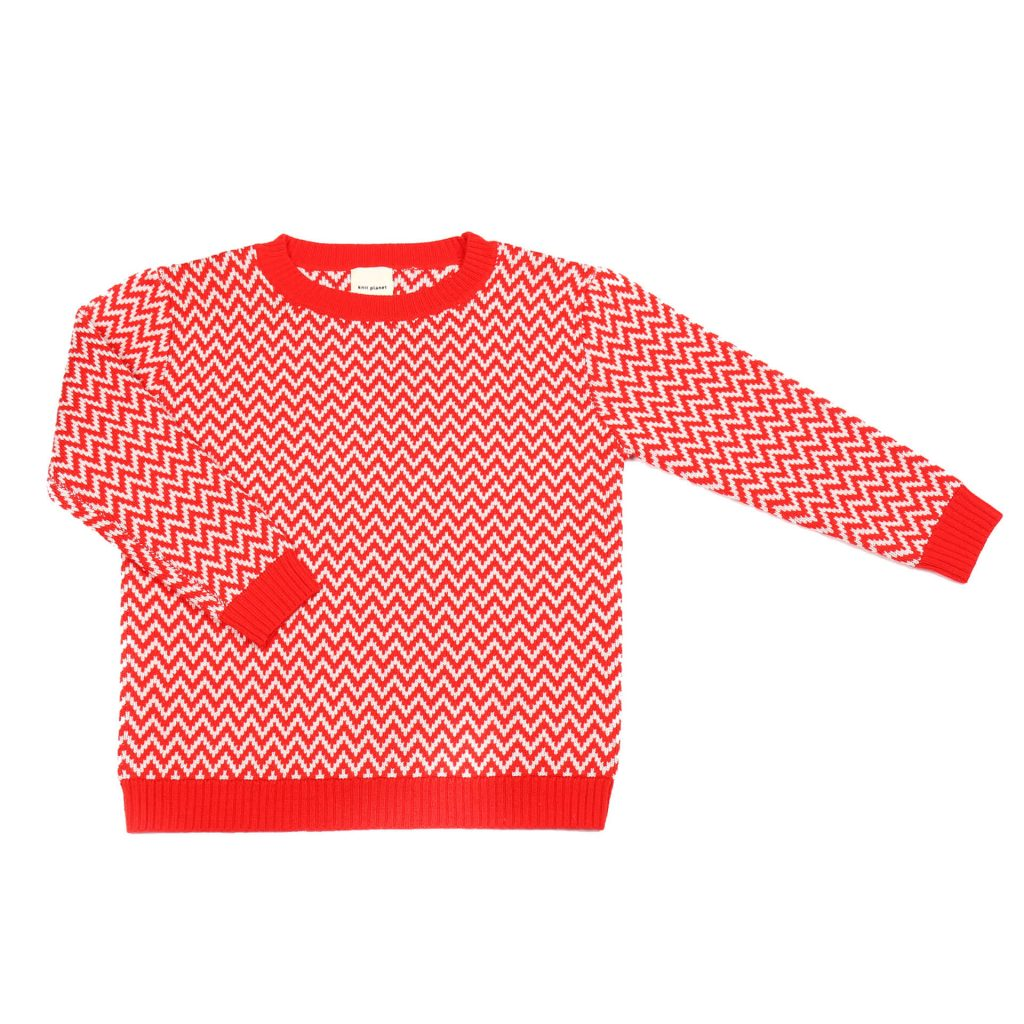 Knit Planet ZickZack Pullover rot