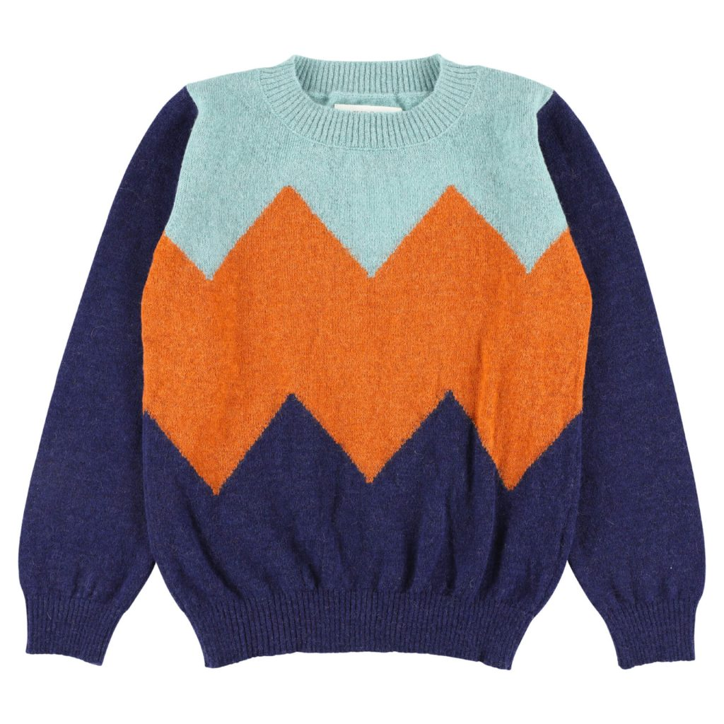"aymara Pullover ""ABC"" türkis/orange/navy"