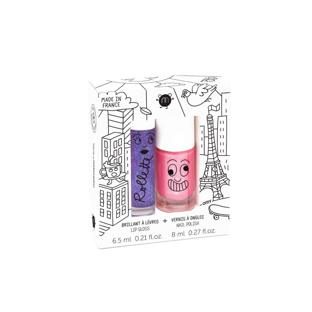 "nailmatic Nagellack/Lipgloss Set ""Blackcurrant & Kitty"""