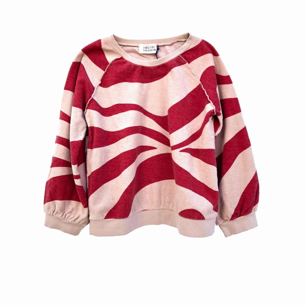 Longlivethequeen Terry Sweater rot-natur