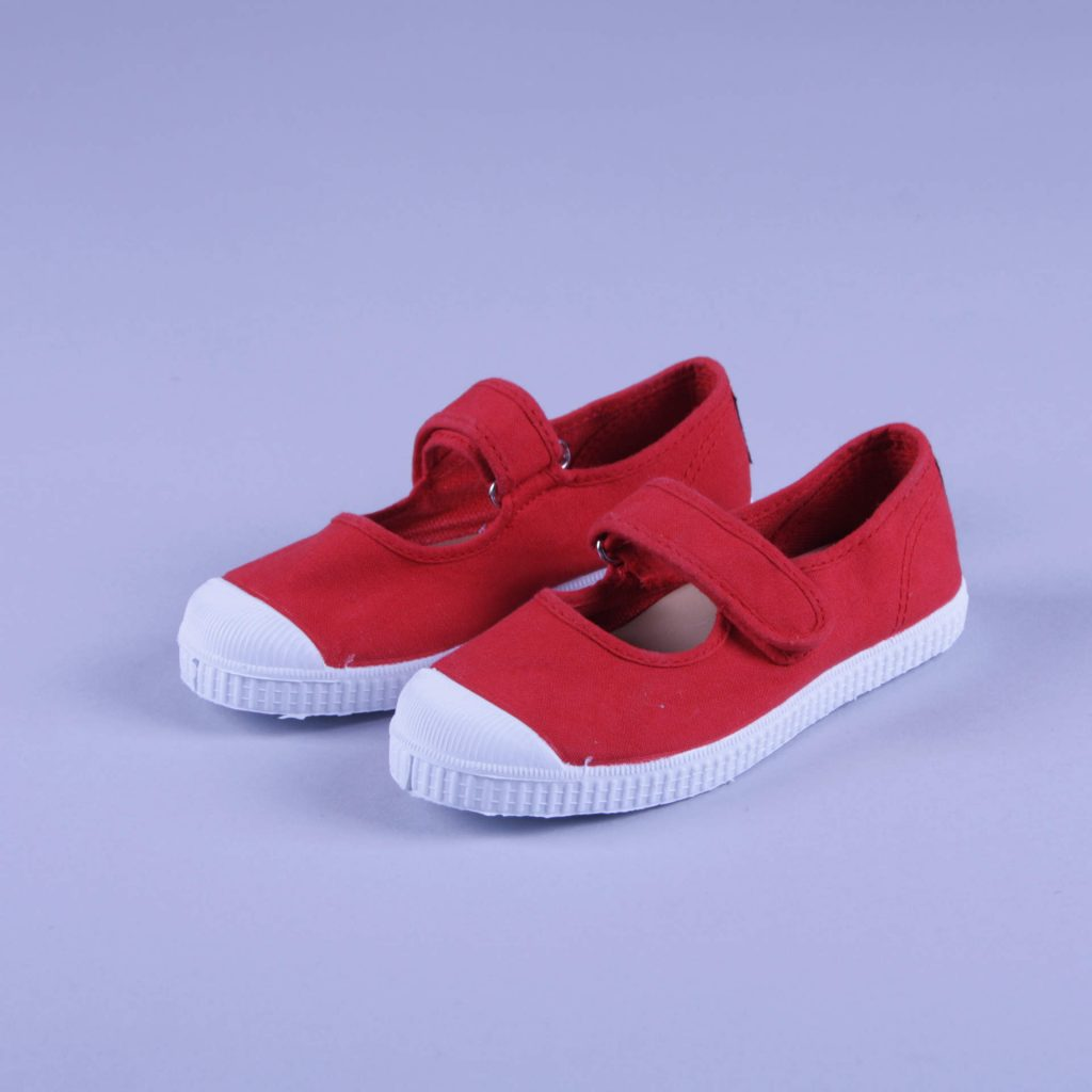 Natural World Kinderschuh Mary Jane rot