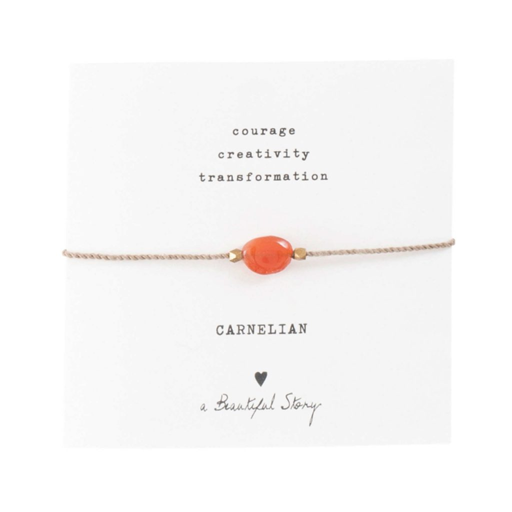 a Beautiful Story Armband Carnelian