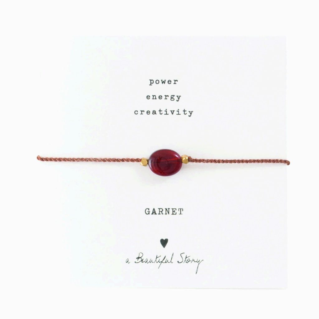 a Beautiful Story Armband Garnet