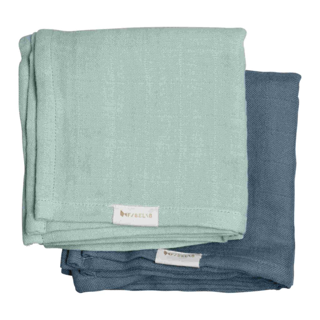 "fabelab Muslin Tuch Set ""Sea"""
