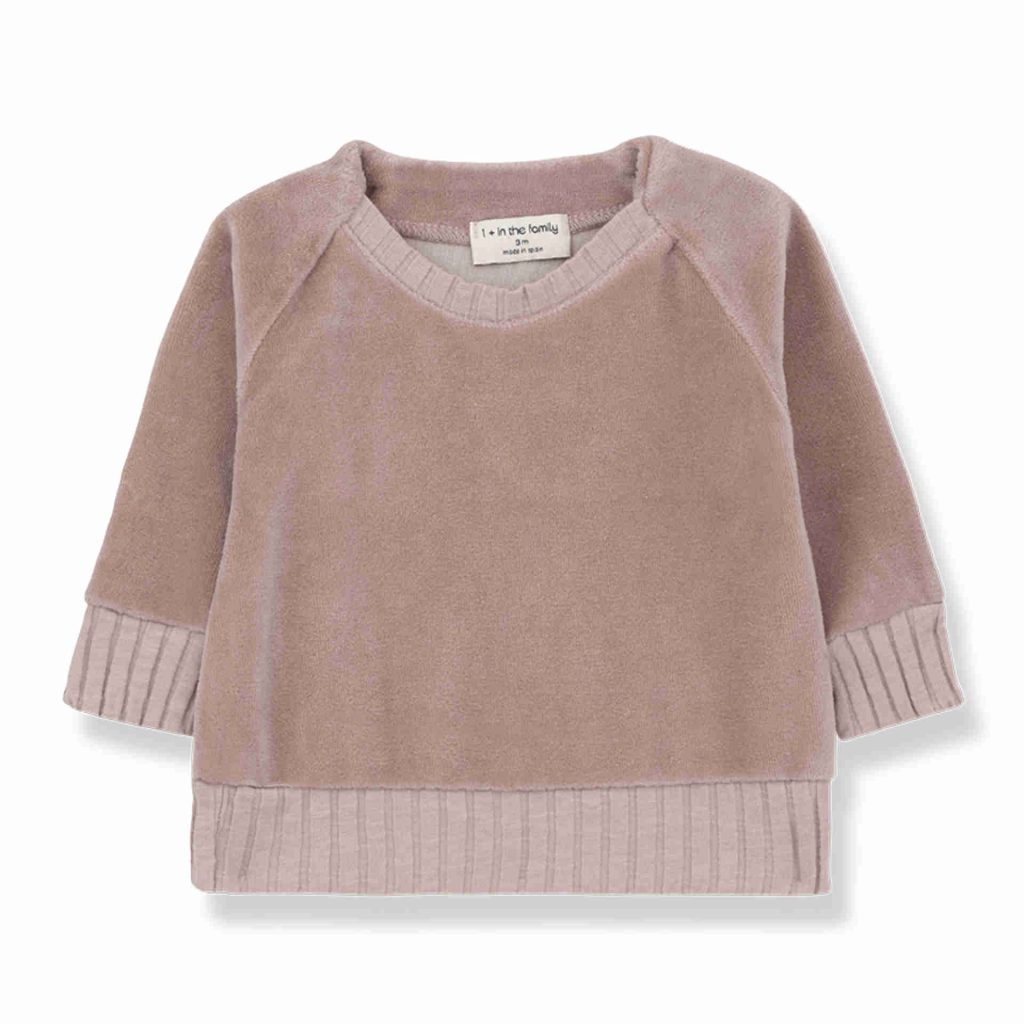 """1+ in the family Sweatshirt """"Rhodes"""" rose"""